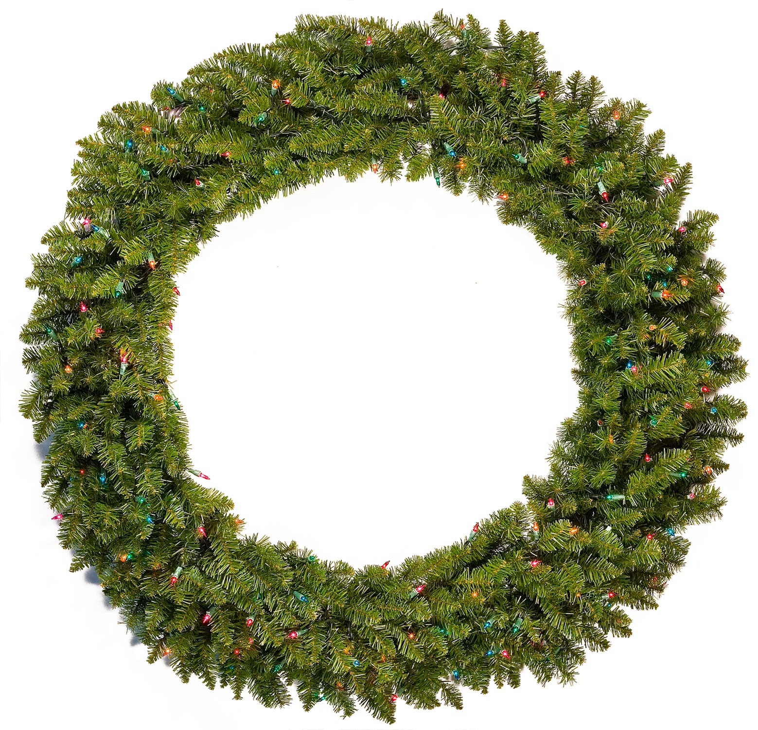 "36"" Pre-lit Tiffany Artificial Christmas Wreath, Multicolor Lights"