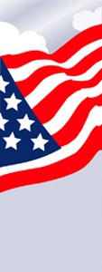 "American Flag Light Pole Banner 17"" x 38"""
