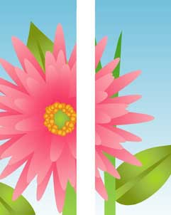 "Big Pink Flower Light Pole Banner 30"" x 94"""