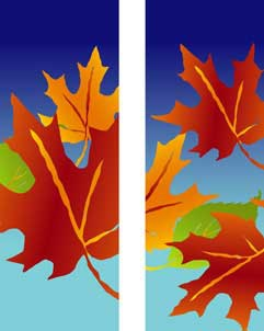 "Fall Leaves Light Pole Banner 30"" x 84"""