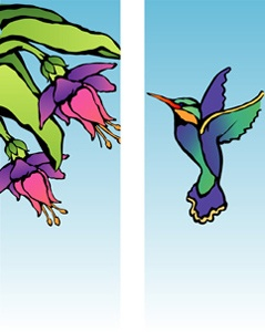 "Hummingbird Light Pole Banner 30"" x 84"""