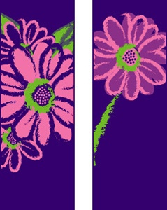 "Pink Daisy Light Pole Banner 30"" x 84"""