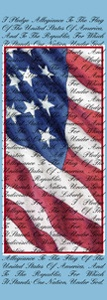 "Pledge of Allegiance Light Pole Banner 30"" x 94"""