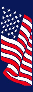 "Stars and Stripes Light Pole Banner 30"" x 94"""