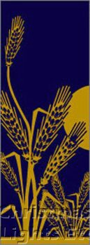 "Wheat Light Pole Banner 30"" x 84"""