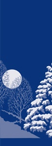 "Winter Scene Light Pole Banner 30"" x 84"""