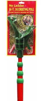 C7, C9 Light Strings - 16' Christmas Decorating Pole with Adapter