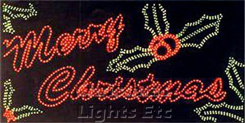 "The Garden Centre: 30"" Merry Christmas Rope light Silhouet Outdoor"