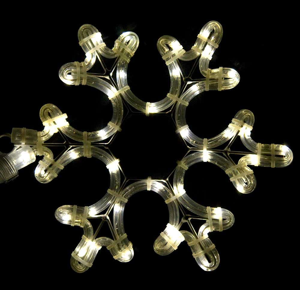 12'' Snowflake Motif, Warm White LED Lights