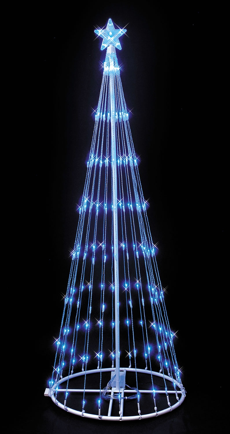 9' Blue LED Light Show Tree