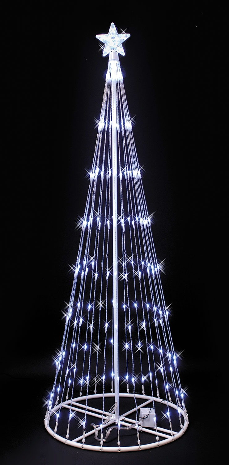 6' White LED Light Show Tree