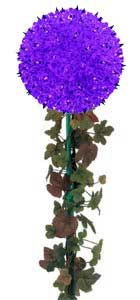 "7.5"" Mini Starlight Stake, 100 Purple Lamps"