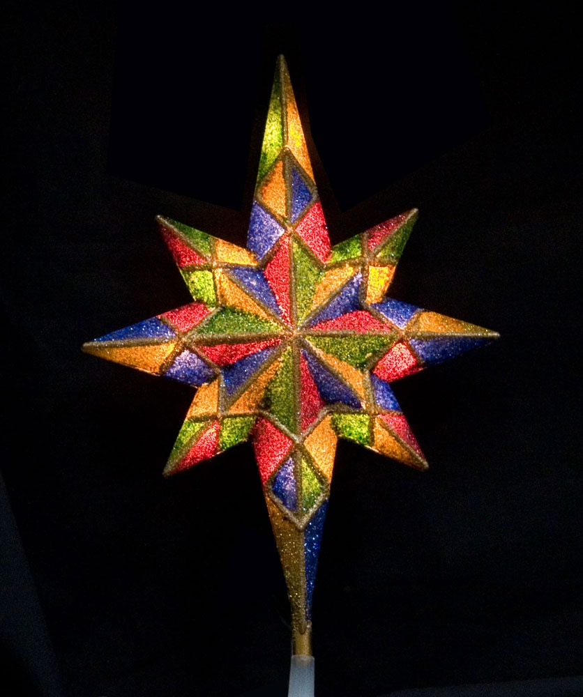 "11"" Mosaic Bethlehem Star Tree Topper"
