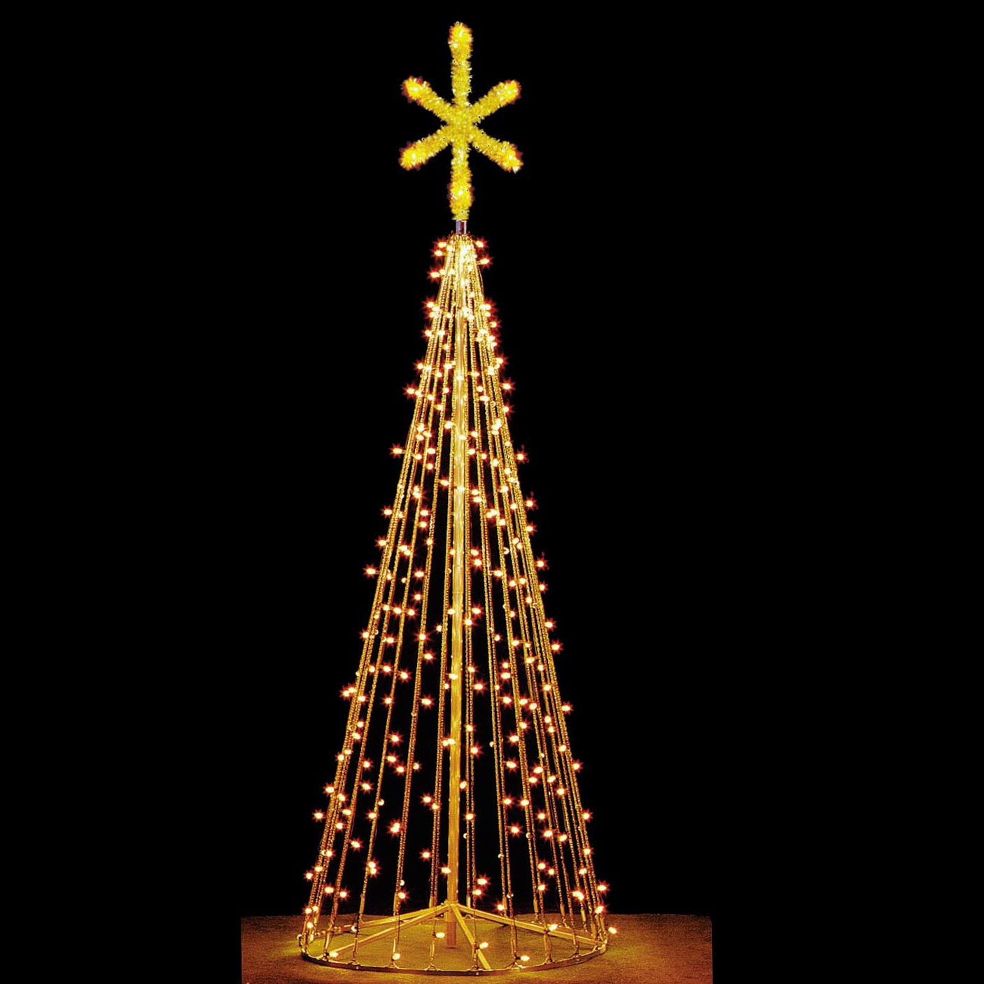 12' Tree of Lights w/2.5 Silhouette Star, Clear Lamps