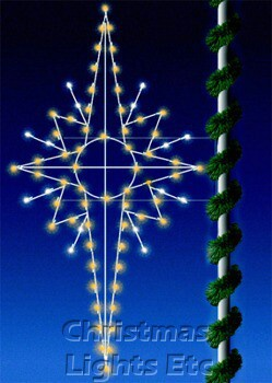 Outdoor Christmas Decorations 8 C7 Bethlehem Star Pole