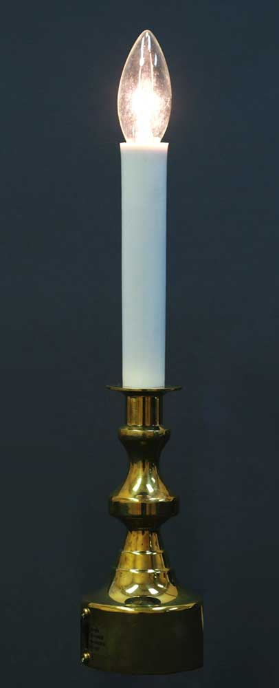 "12"" Brass Multi-Function Candle with Timer"