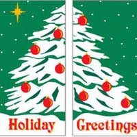 Commercial banners for Christmas or other special occasions.  Outdoor commercial banners, lighting pole mounts, garland, animated displays and decorations, giant statues, santas, and animated figures.