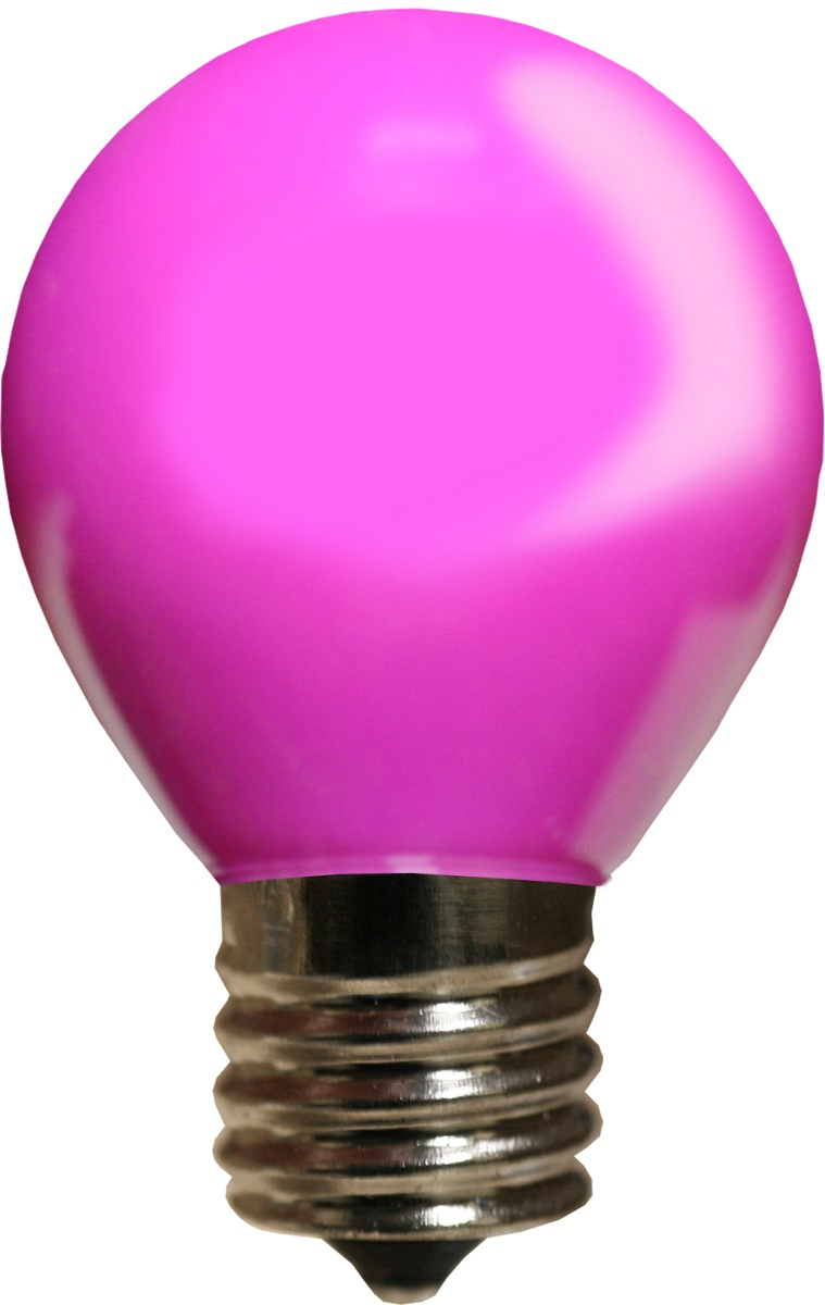 E17 Patio And Party Light Bulbs S11 Opaque Purple 10 Watt Replacement Bulbs