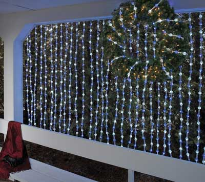 garland lights blue white led beaded light garland