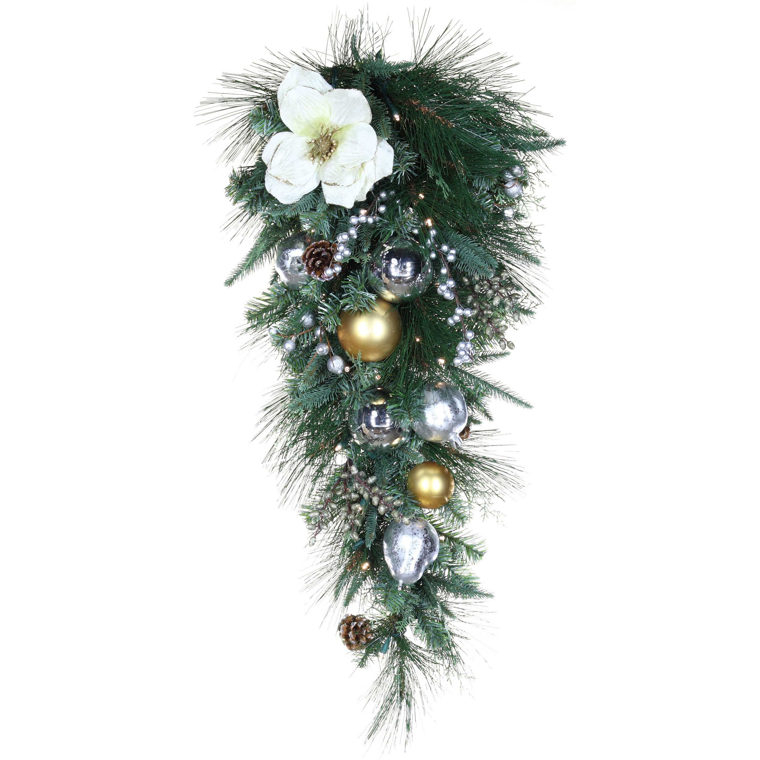 Decorative Christmas Teardrop Wreaths