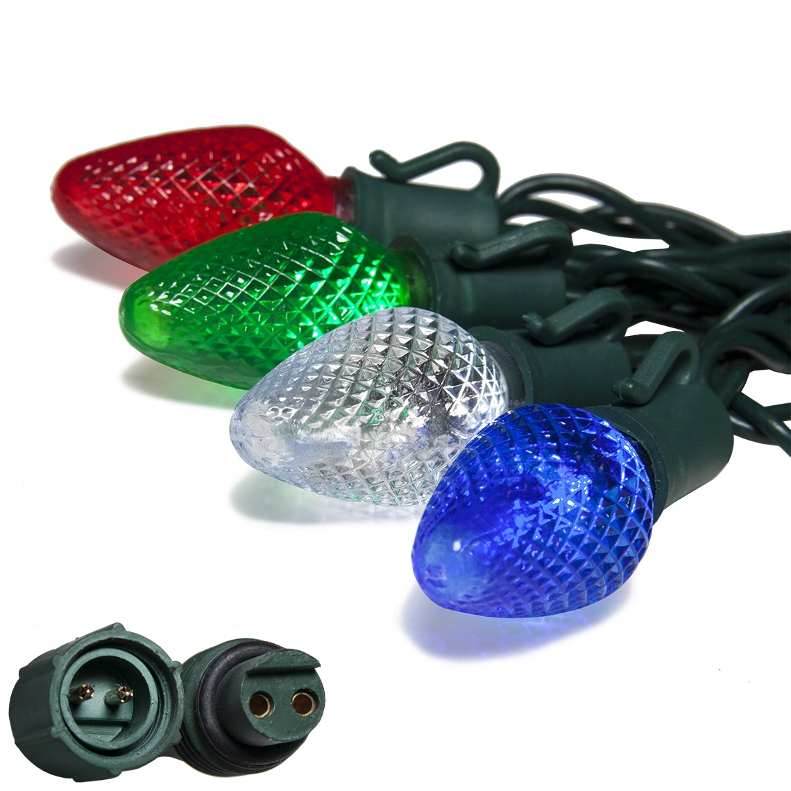 Commercial led christmas lights commercial prelamped c7 led light strings pooptronica Choice Image