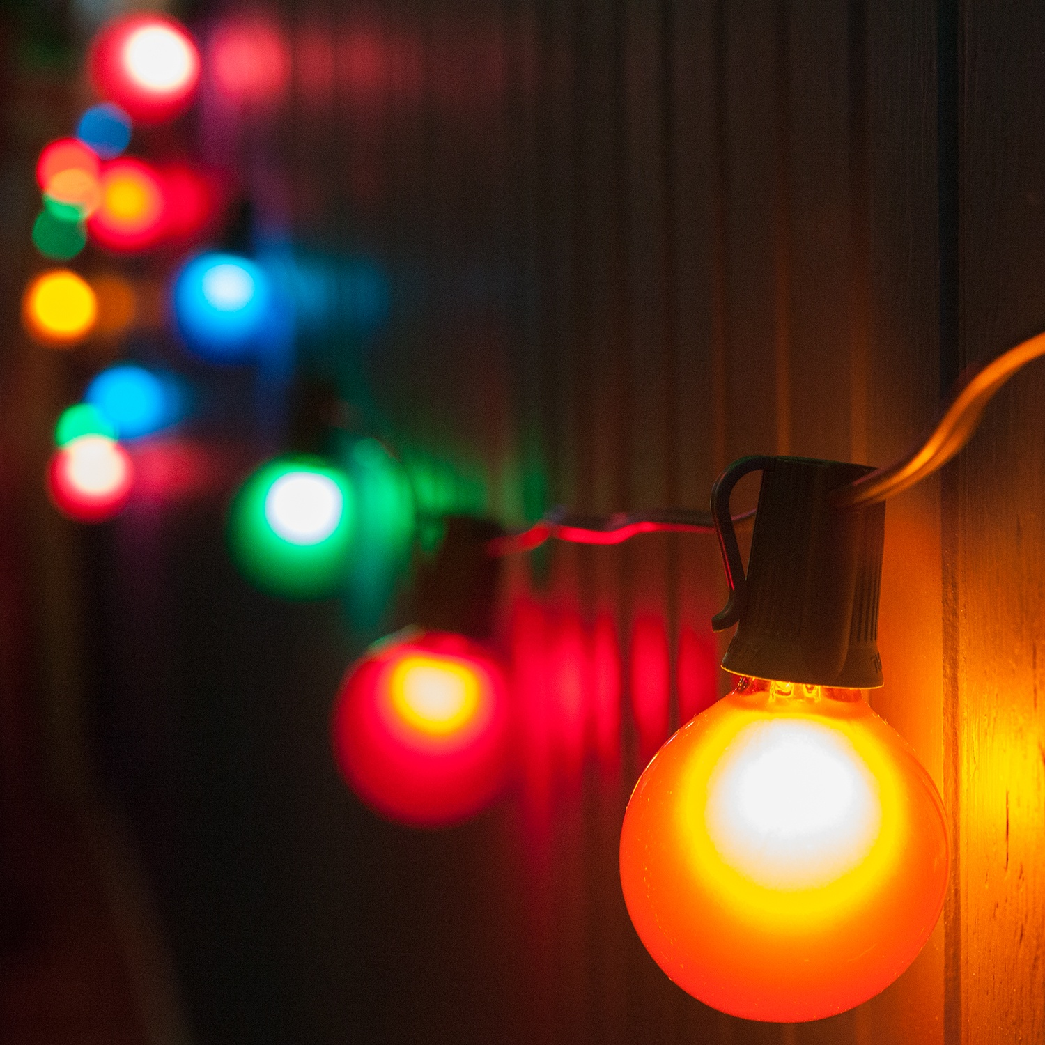 Outdoor Holiday String Lights : Patio String Lights and Bulbs