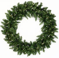 Prelit Artificial Christmas Wreaths