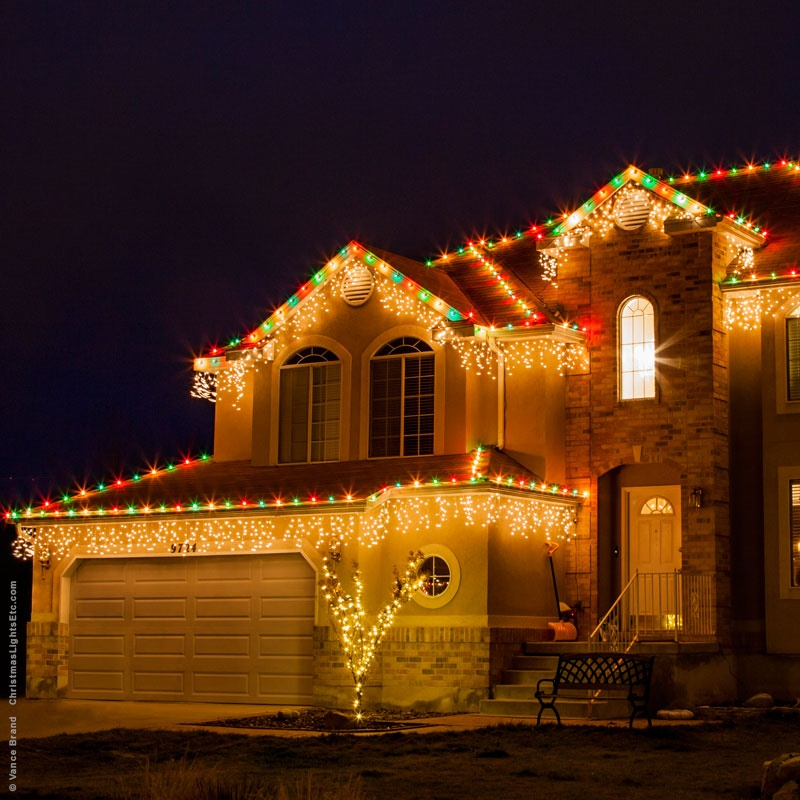how to put christmas lights on gutter