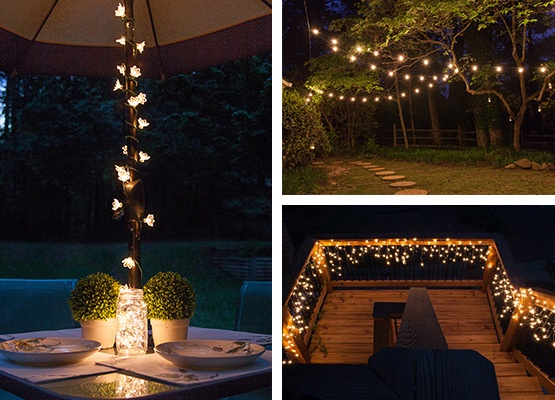 Outdoor and patio lighting ideas for Exterior xmas lighting ideas