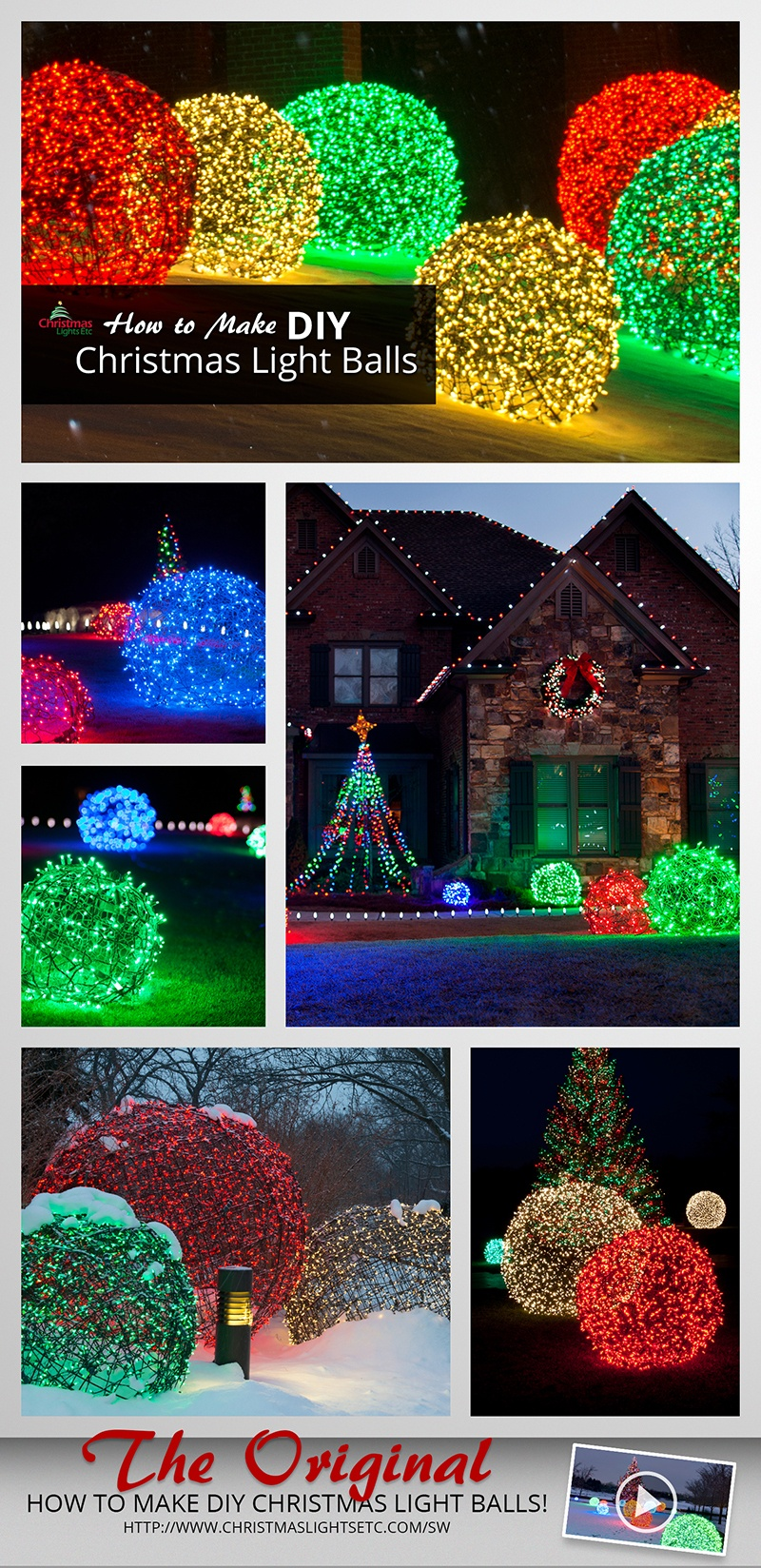 How to make christmas light balls - Large bulb exterior christmas lights ...