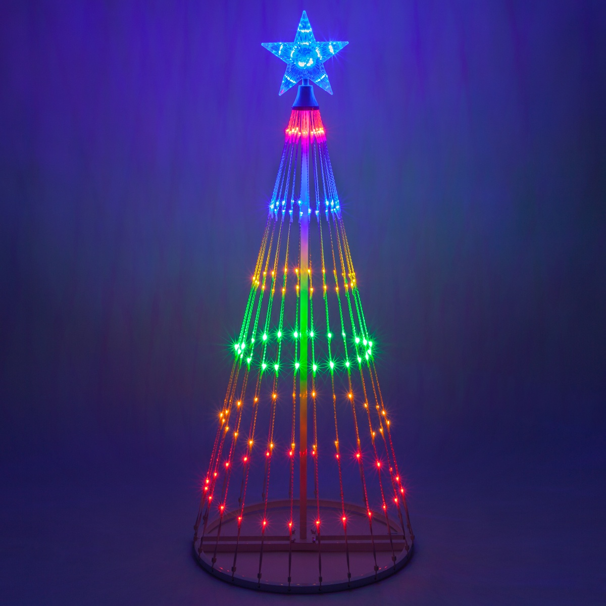 Outdoor christmas lights led light show trees aloadofball