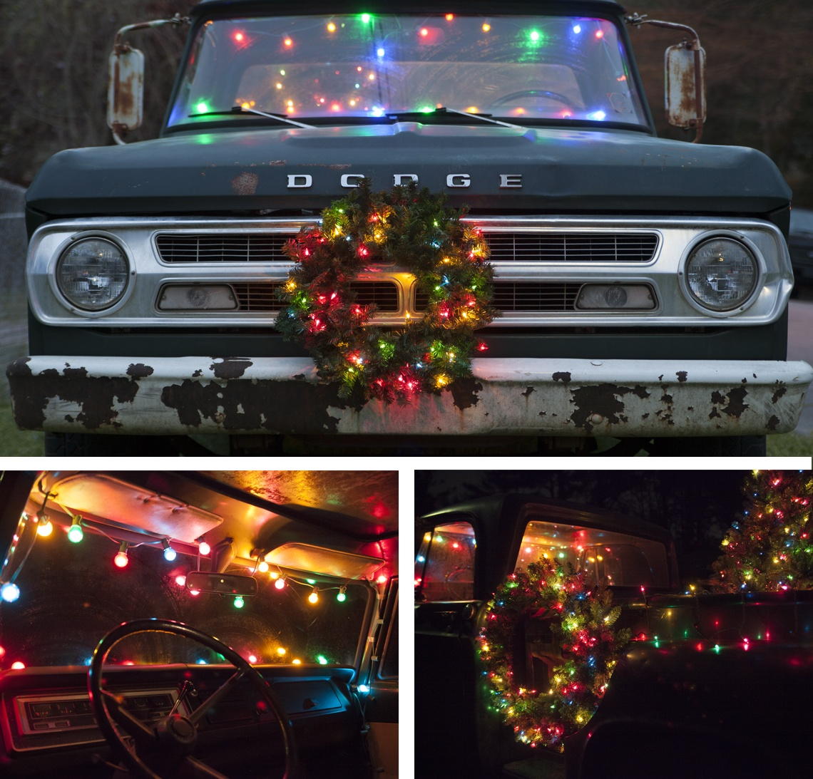 Christmas Car Decorations.Christmas Truck Decorating For The Holidays