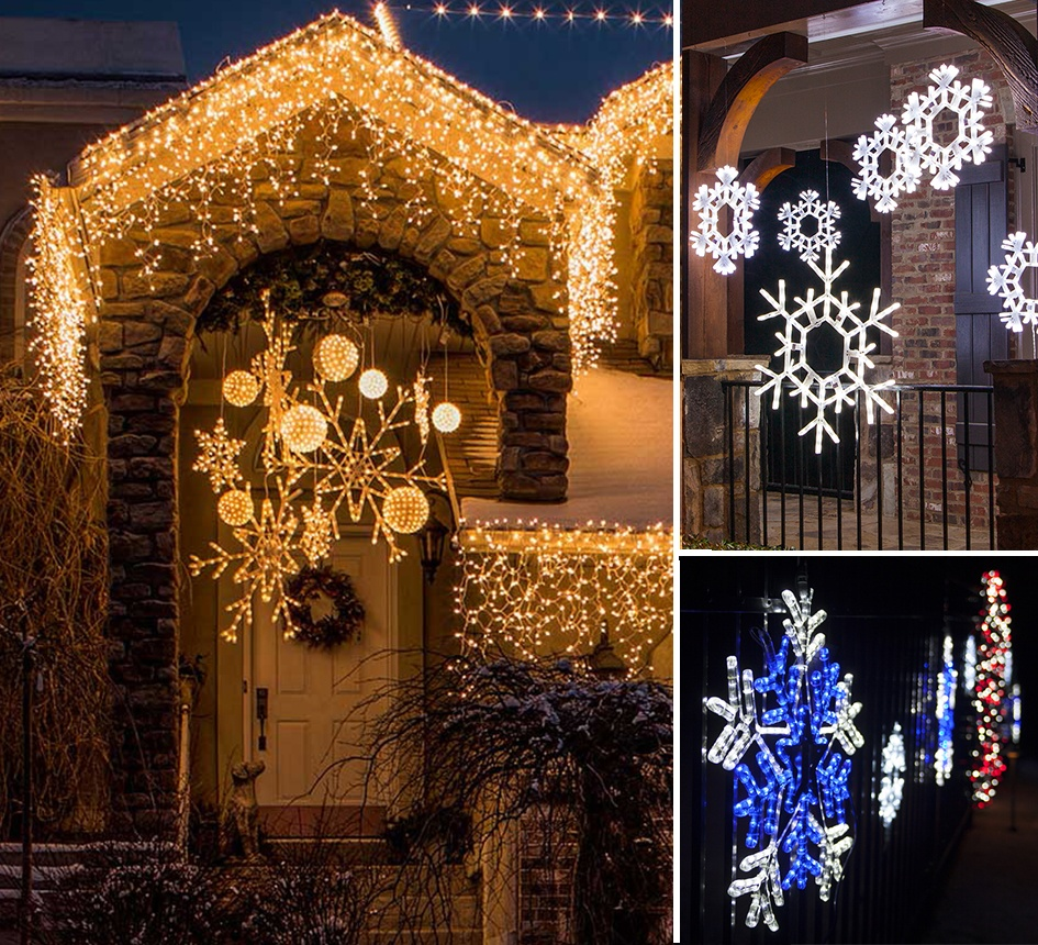 Create A Winter Wonderland With Snowflake Lights