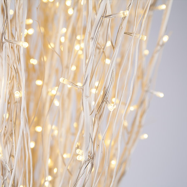 White Christmas Tree With Clear Lights