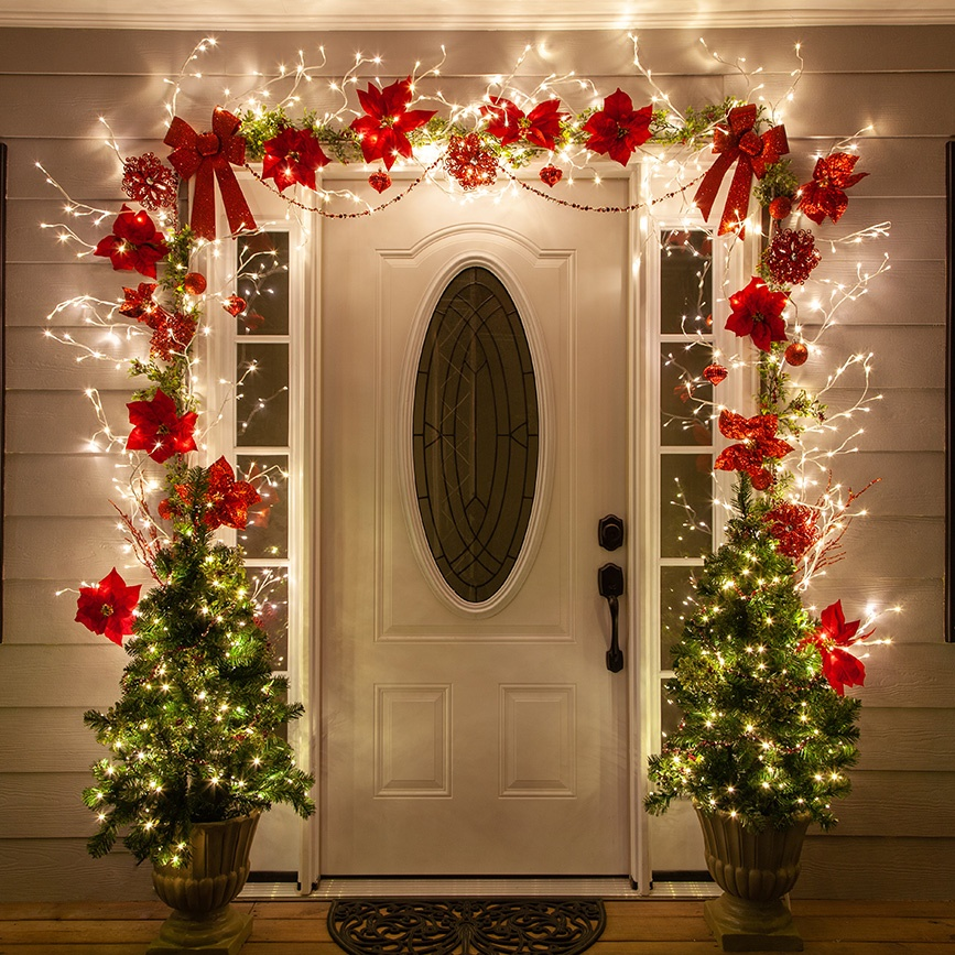 Holiday Decor Ideas Christmas: Christmas Door Decorating Ideas