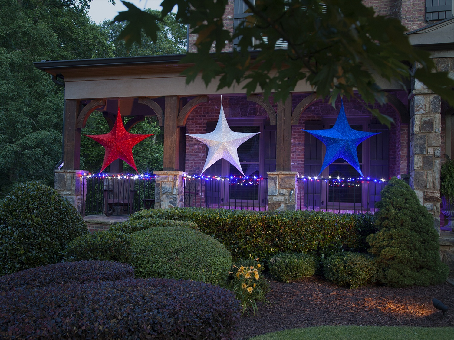 Patriotic Christmas Lights.Patriotic Lights And Decorations
