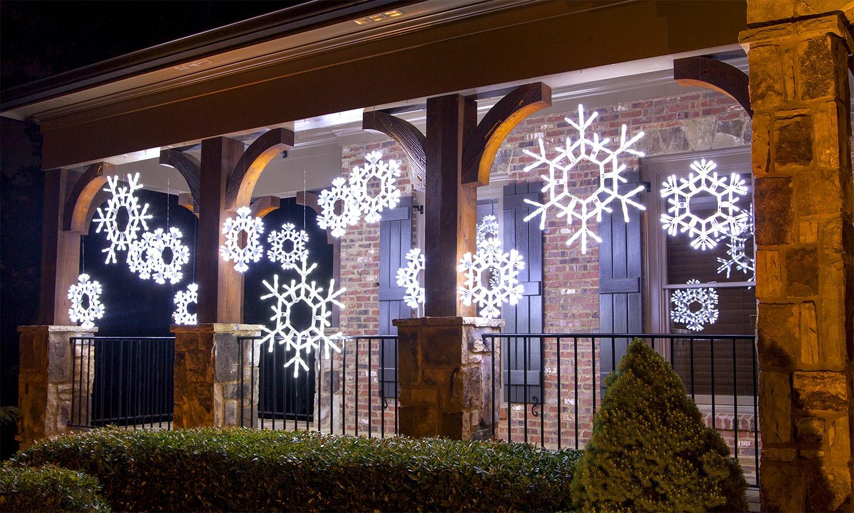 Snowflake Christmas Lights.Christmas Snowflakes Stars
