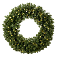 prelit wreaths and garland