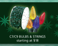 C7/C9 bulbs and strings