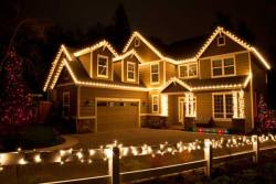 Heavily Decorated Christmas Lights House