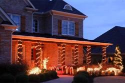Light Use of Christmas Lights on a House