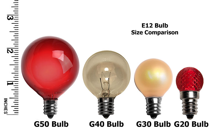 E12 Light Size Comparison