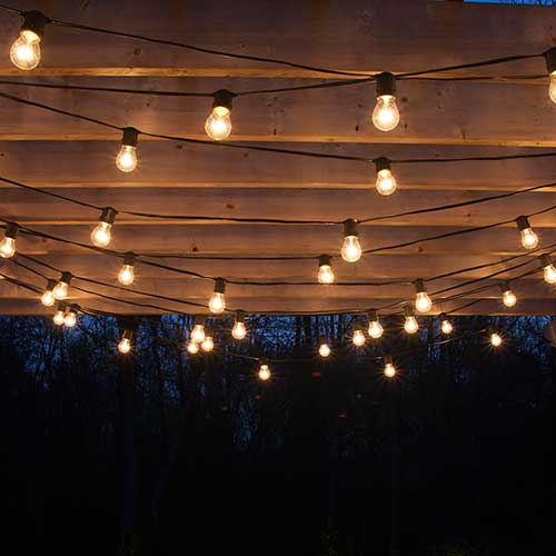 How to hang patio lights Outdoor string lighting