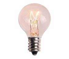 G30 Transparent Clear Incandescent Bulb with 30mm Diameter