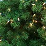 Strong and lush interior commercial grade Christmas tree looks elegant and full in fine homes and interiors