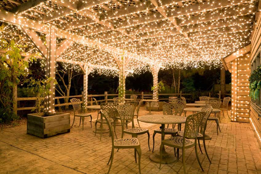 wedding hanging lights