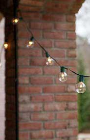 Hanging Lights by Columns