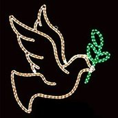 LED Dove With Branch Motif