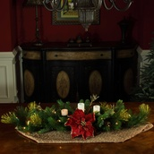 "42"" Crimson Harvest Candle Centerpiece With Battery Operated  Lights"