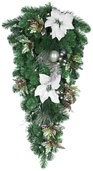 Canterbury Battery Operated LED Teardrop Christmas Garland, Warm White Lights